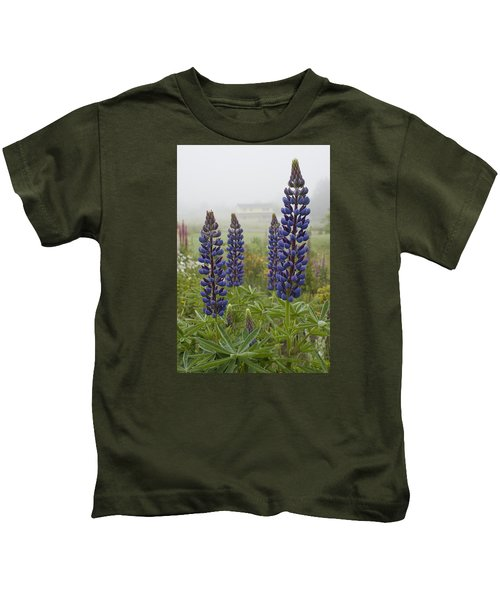 Lupine In The Fog Kids T-Shirt