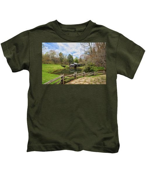 Mabry Mill In The Spring Kids T-Shirt