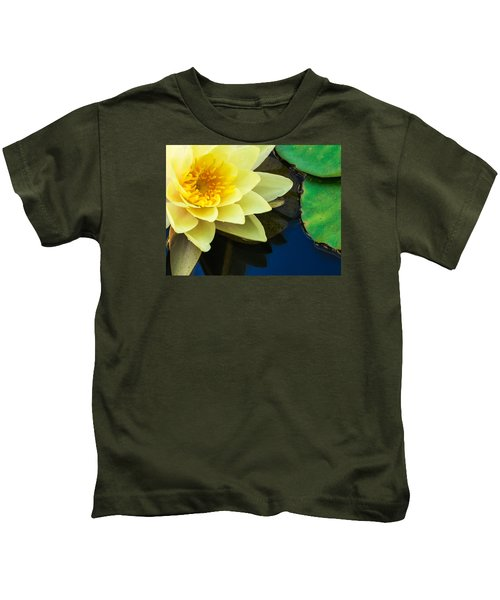 Macro Image Of Yellow Water Lilly Kids T-Shirt