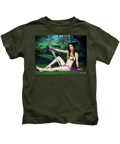 Maiden Of The Mystic Wood Kids T-Shirt