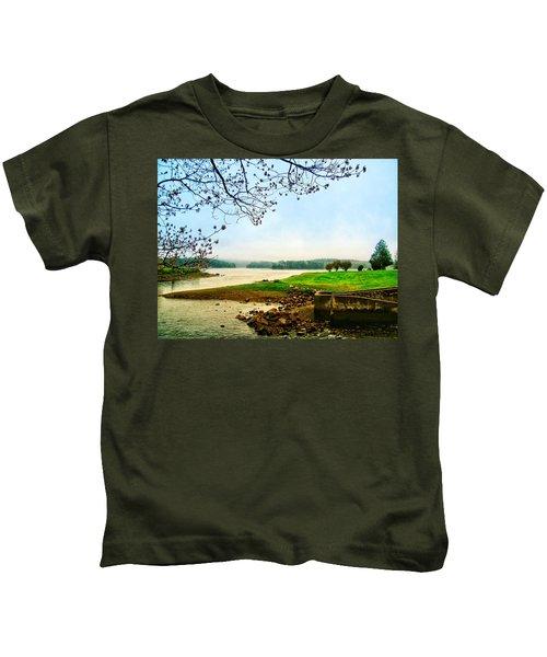 Maine Fog  Kids T-Shirt