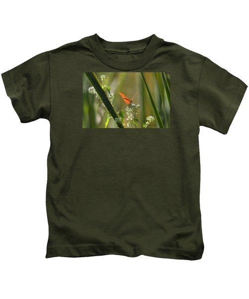 Male Julia Heliconia Butterfly Kids T-Shirt