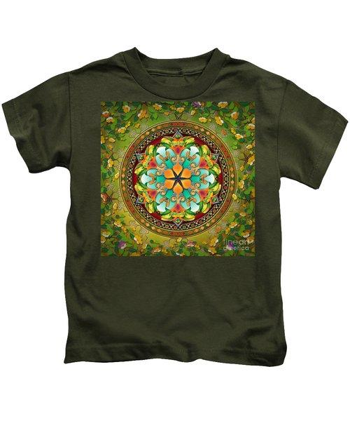 Mandala Evergreen Kids T-Shirt