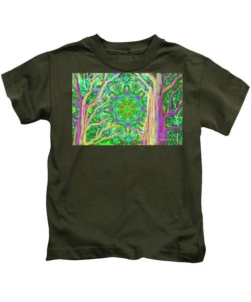 Mandala Forest Kids T-Shirt