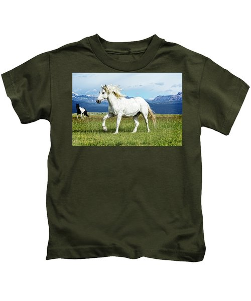 Mane And Feet Flying  Kids T-Shirt