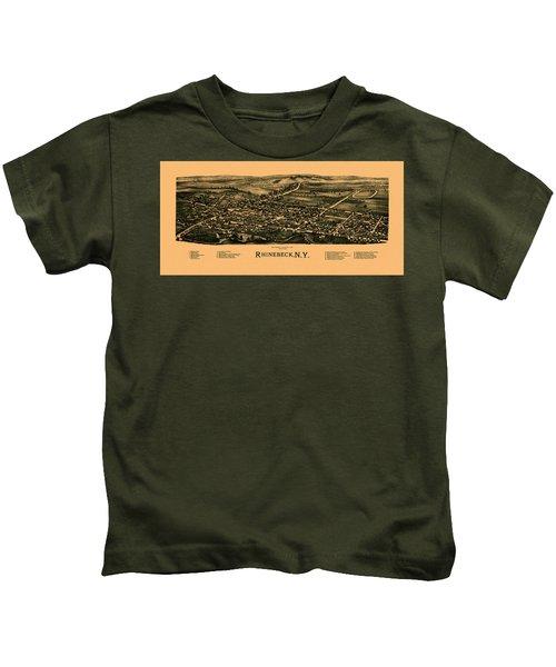 Map Of Rhinebeck 1890 Kids T-Shirt