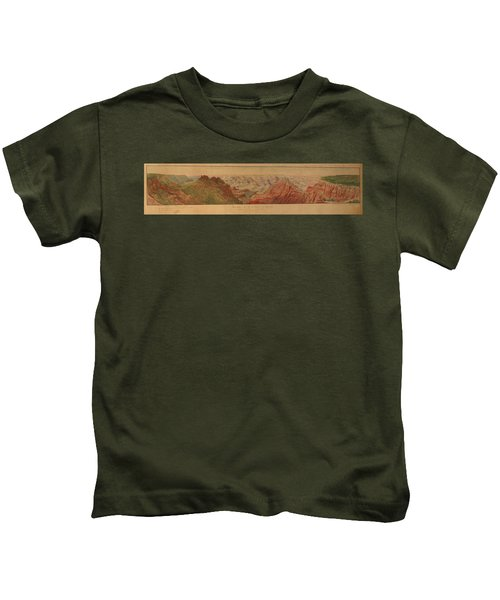 Map - Usa - Vintage - Old Map - Art Wall - State - Scenic View - Great Canyon Kids T-Shirt