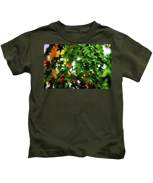 Maple In The Mist Kids T-Shirt