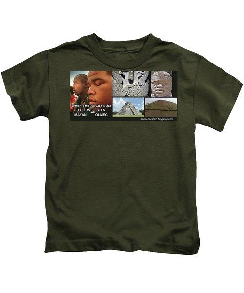 Mayan Olmec Kids T-Shirt