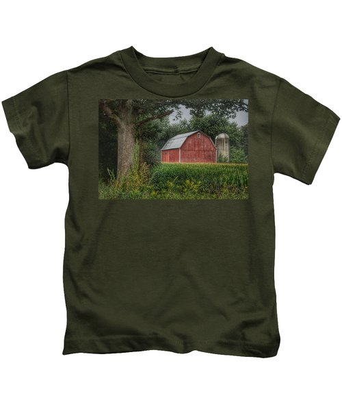 0027 - Mayville's Lapeer Road Red Kids T-Shirt