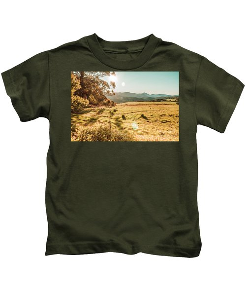 Meadows And Mountains Kids T-Shirt