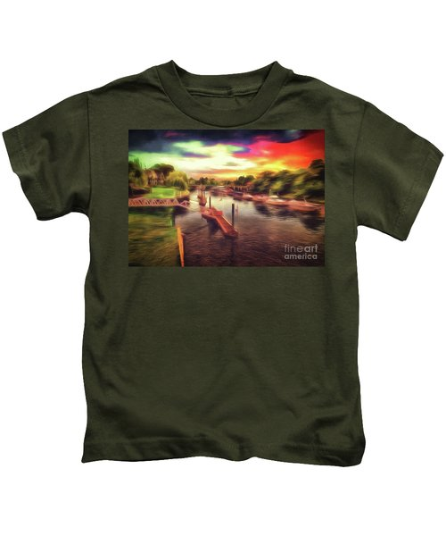 Meanwhile Back On The River Kids T-Shirt