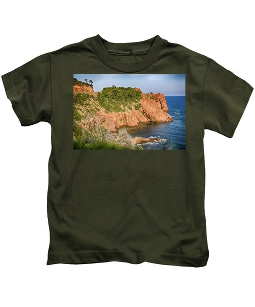 Mediterranean French Coastline Kids T-Shirt