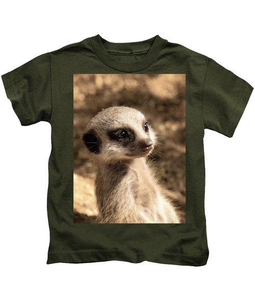 Meerkatportrait Kids T-Shirt