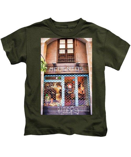 Mementos Shop Barcelona  Kids T-Shirt