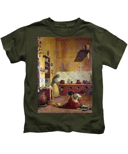 Mexico: Kitchen, C1850 Kids T-Shirt
