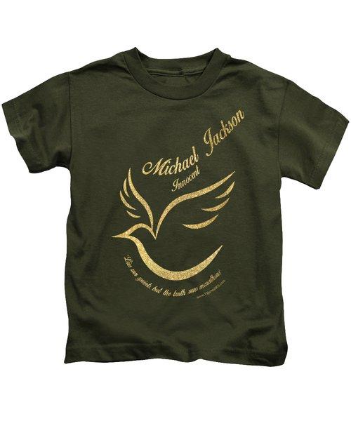Michael Jackson Golden Dove Kids T-Shirt by D Francis