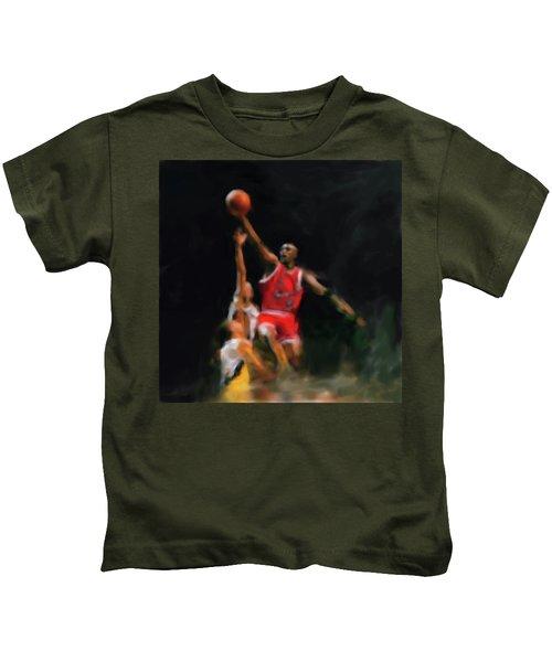 Michael Jordan 548 1 Kids T-Shirt by Mawra Tahreem