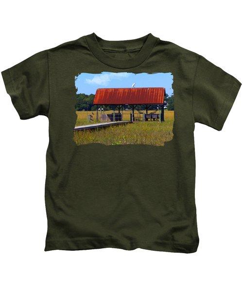 Midday Island Creek View Kids T-Shirt by Deborah Smith