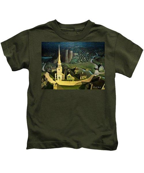 Midnight Ride Of Paul Revere Kids T-Shirt