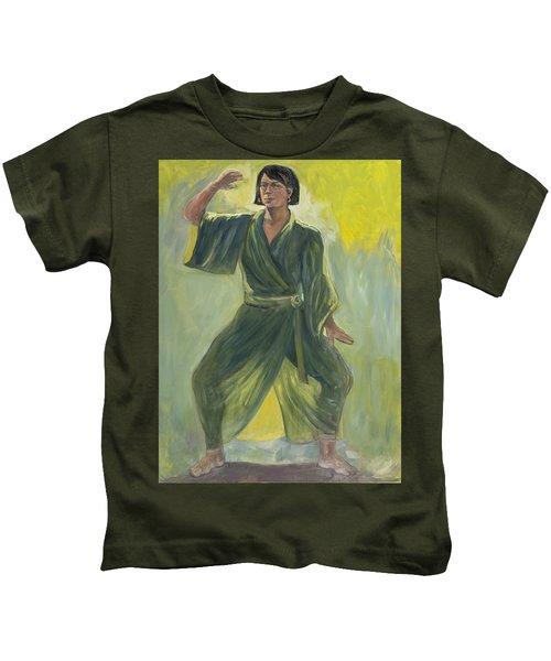 Mighty Woman Kick-butt Kids T-Shirt