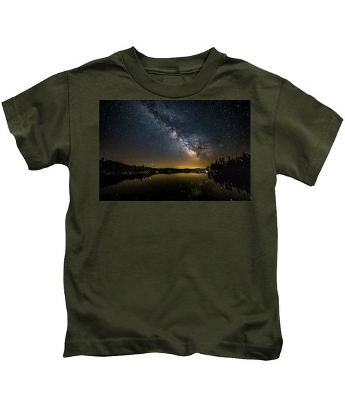 Milky Way At Hunter Cover Kids T-Shirt