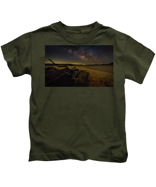 Milky Way Over The Canyon  Ranch Kids T-Shirt