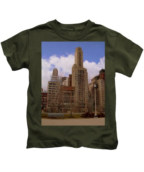 Millenium Park And Bench 1 Kids T-Shirt