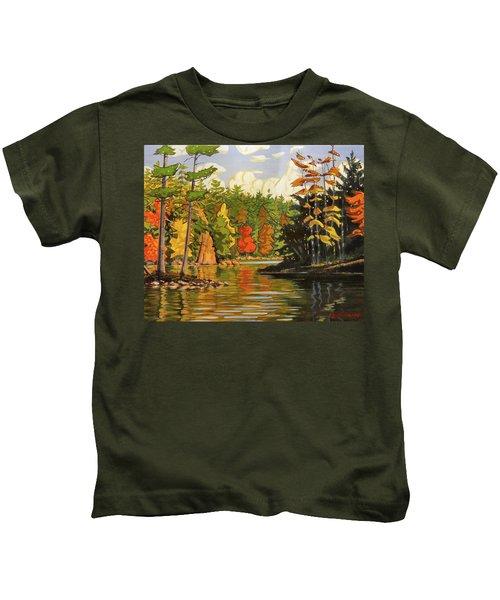 Mink Lake Narrows Kids T-Shirt