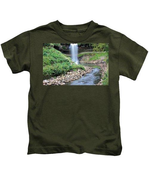 Minnehaha Falls Downstream Kids T-Shirt
