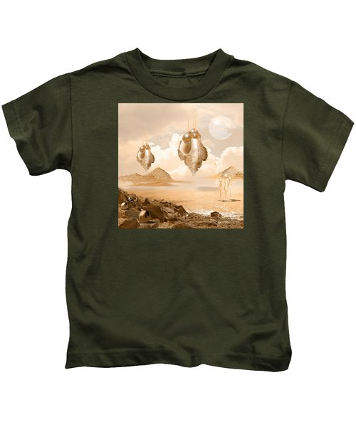 Mission In A Far Planet Kids T-Shirt