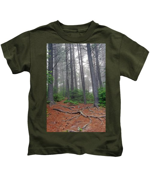 Misty Morning In An Algonquin Forest Kids T-Shirt