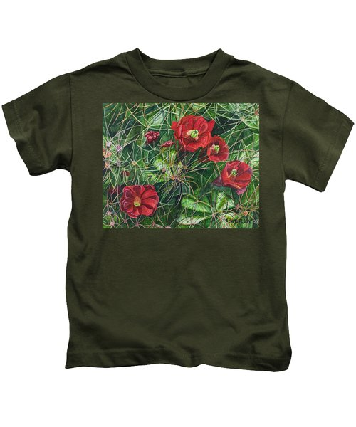Mohave Mound Cactus Kids T-Shirt
