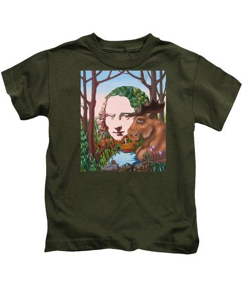 Mona Lisa . Earth Kids T-Shirt