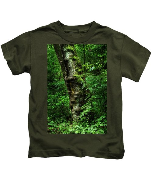 Moody Tree In Forest Kids T-Shirt