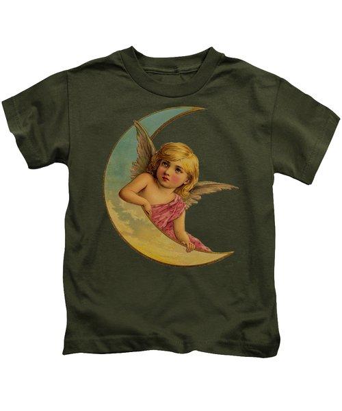 Moon Angel T Shirt Design Kids T-Shirt by Bellesouth Studio