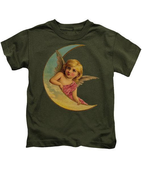 Moon Angel T Shirt Design Kids T-Shirt