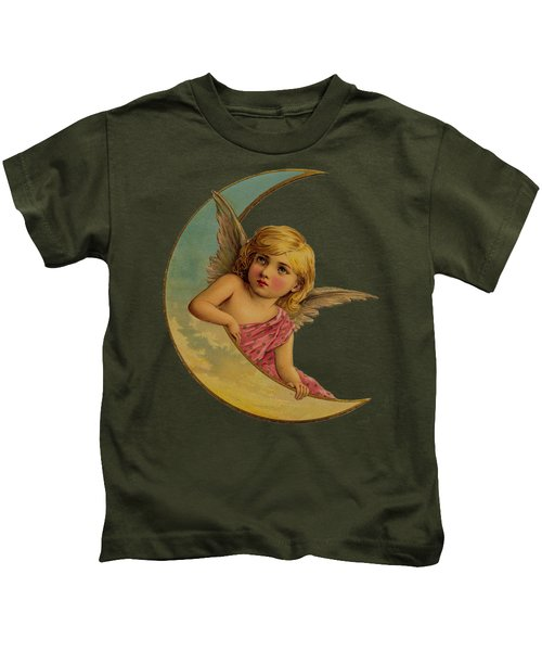 Moon Angel T Shirt Design Kids T-Shirt