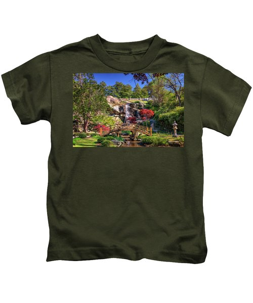 Moon Bridge And Maymont Falls Kids T-Shirt