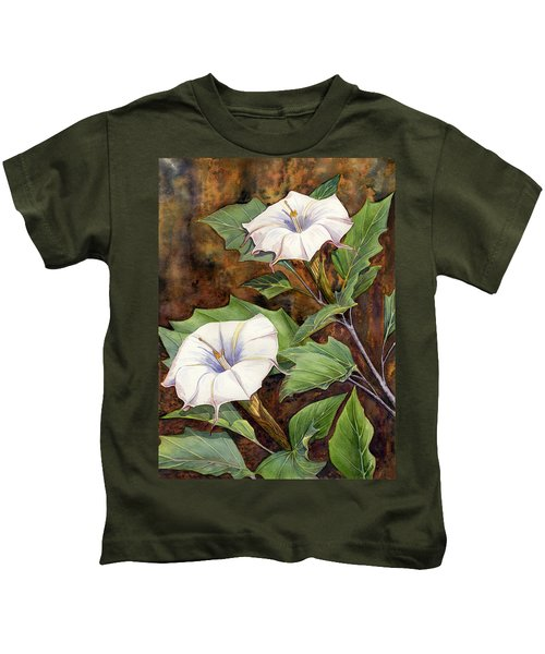 Moon Lilies Kids T-Shirt