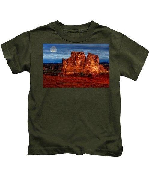 Moon Over La Sal Kids T-Shirt