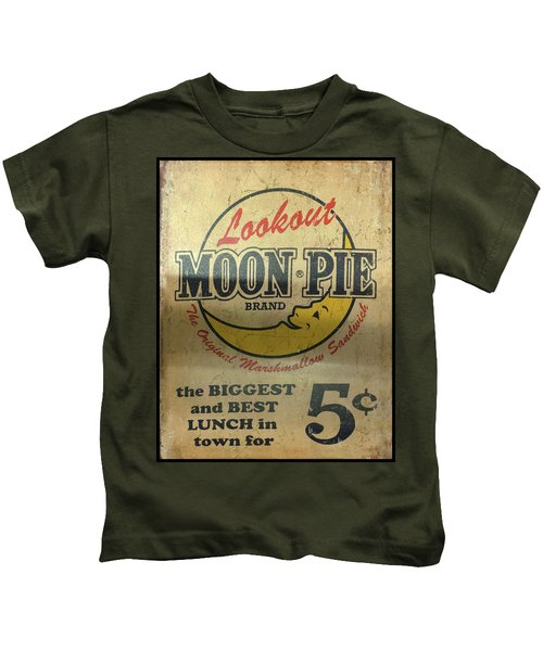 Moon Pie Antique Sign Kids T-Shirt