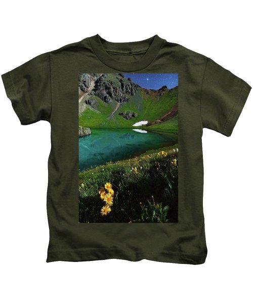 Moonlit Colorado Dreamscape Kids T-Shirt