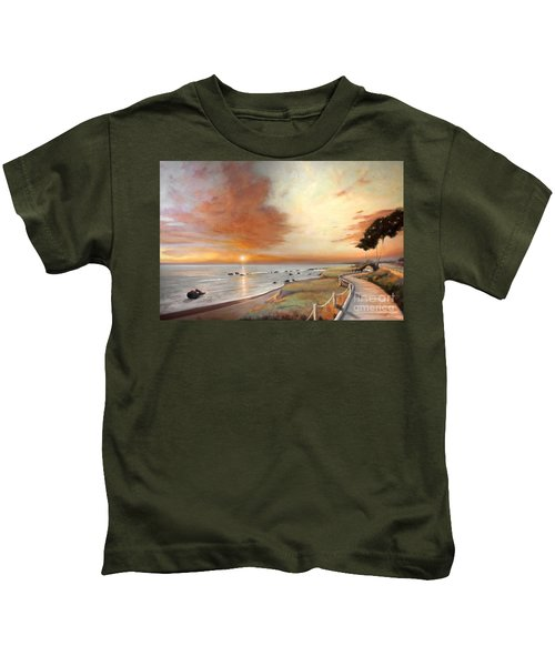 Moonstone Cambria Sunset Kids T-Shirt