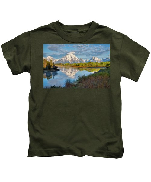 Morning At Oxbow Bend Kids T-Shirt