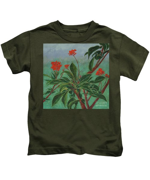Morning Fog In The Garden Kids T-Shirt
