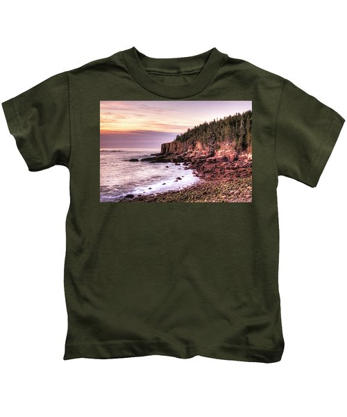 Morning In Acadia Kids T-Shirt