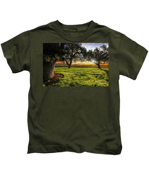 Morning In Wine Country Kids T-Shirt