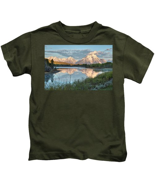 Morning Light At Oxbow Bend Kids T-Shirt
