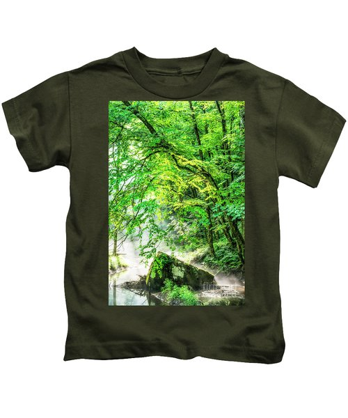 Morning Light In The Forest Kids T-Shirt